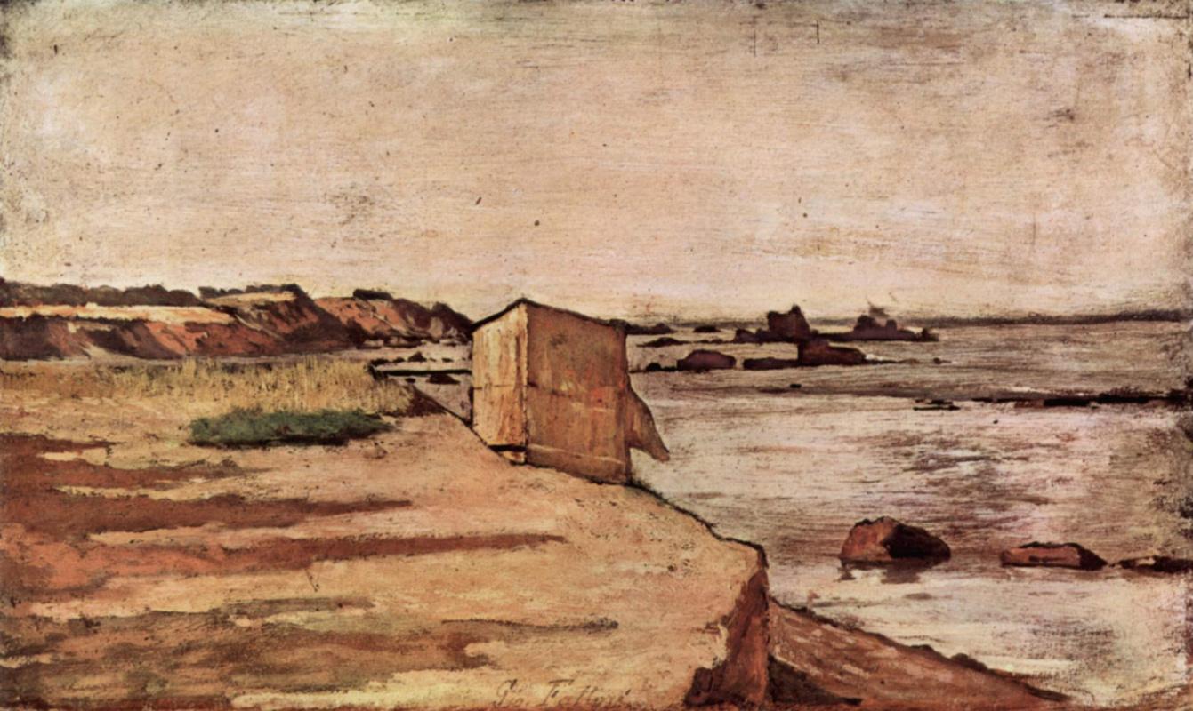 Giovanni Fattori. Hut on the coast