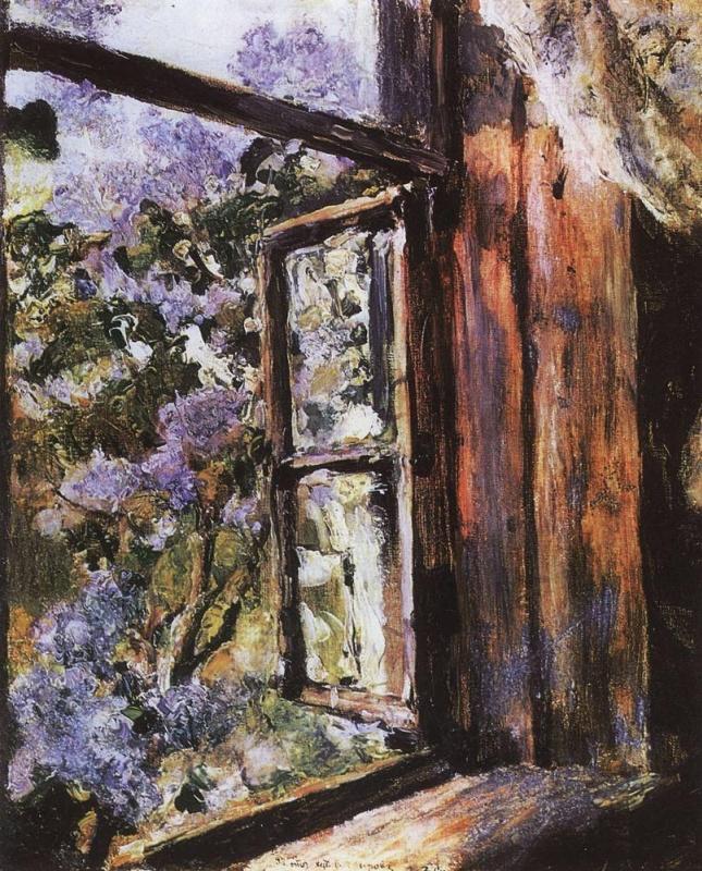 Валентин Александрович Серов. Открытое окно. Сирень.