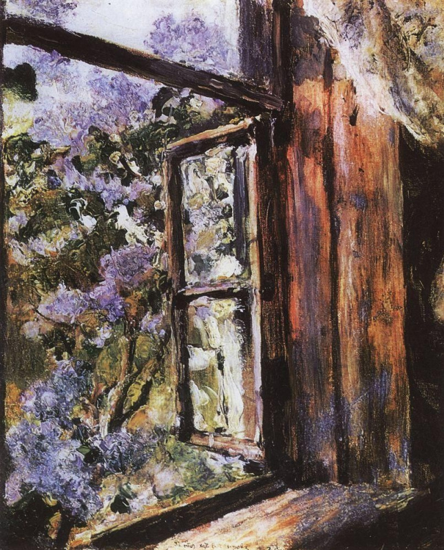 Valentin Serov. Open window. Lilac.