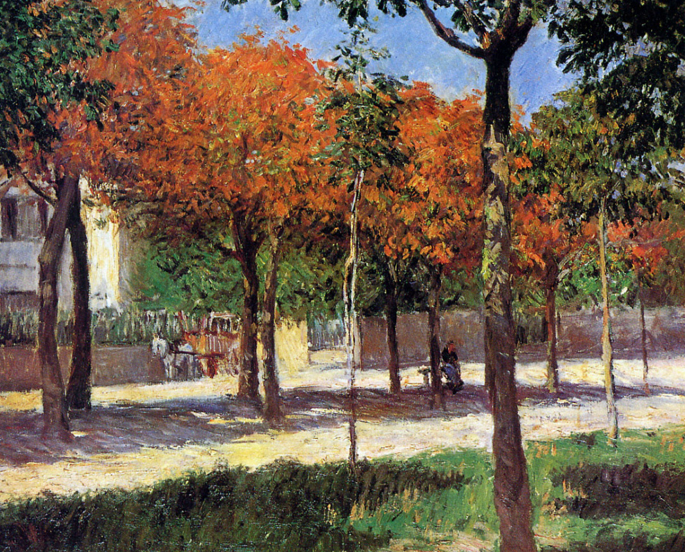 Gustave Caillebotte. Square in Argenteuil