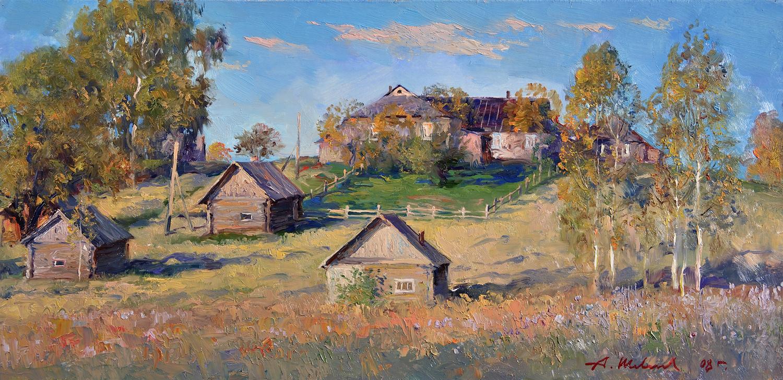 Alexander Victorovich Shevelyov. Autumn. hardboard, oil 30.3 x 61.5 cm. 2008