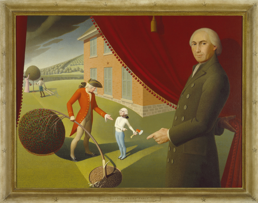 Grant Wood. Parsons Weems Fable