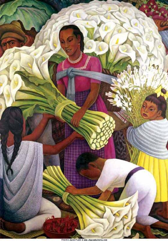 Диего Мария Ривера. Продавец цветов