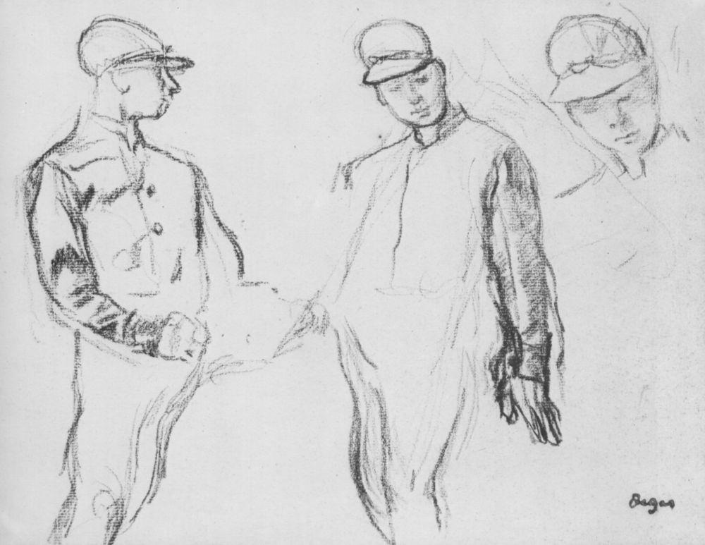 Эдгар Дега. Три жокея