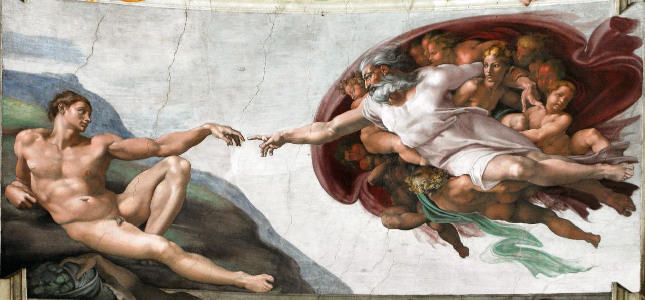 Michelangelo Buonarroti. The Creation Of Adam