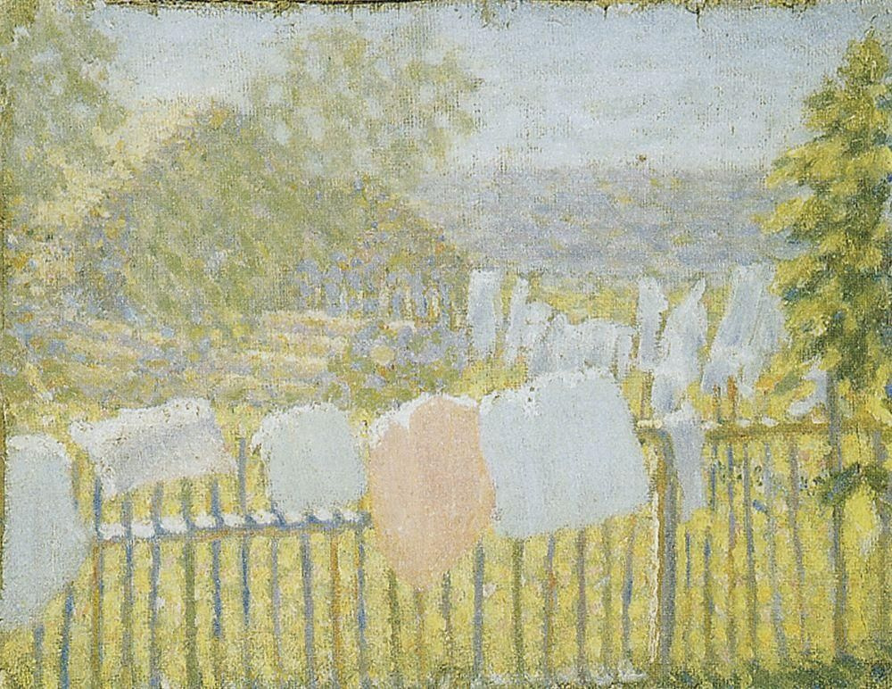 Kazimir Malevich. Linen on the fence