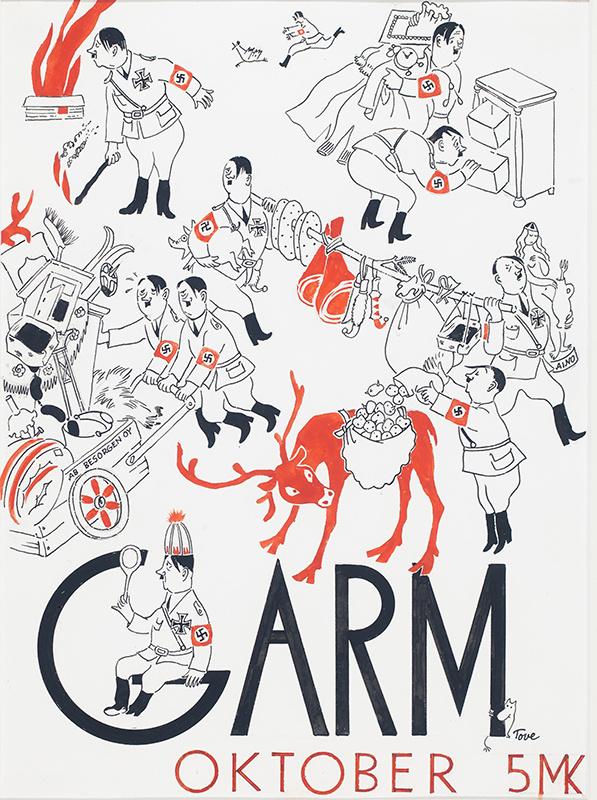 """Туве Янссон. Обложка для журнала """"Garm"""" октябрь 1944"""