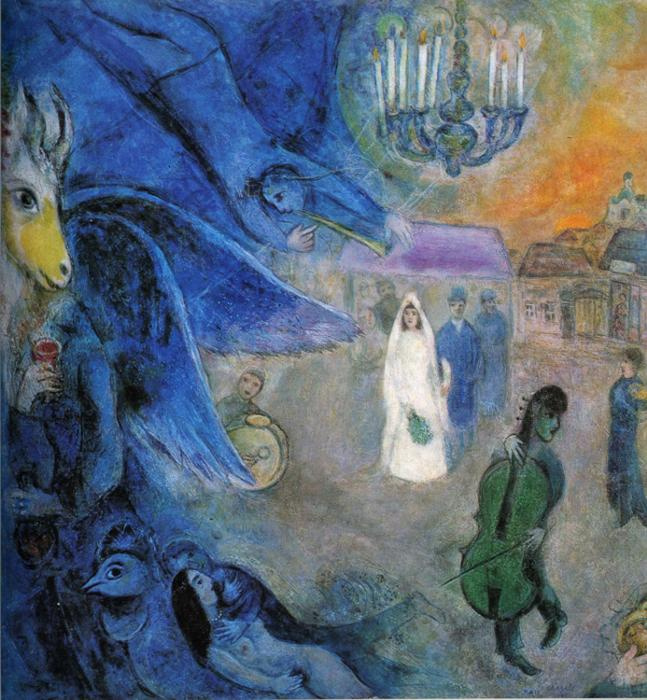 Marc Chagall. Wedding candles