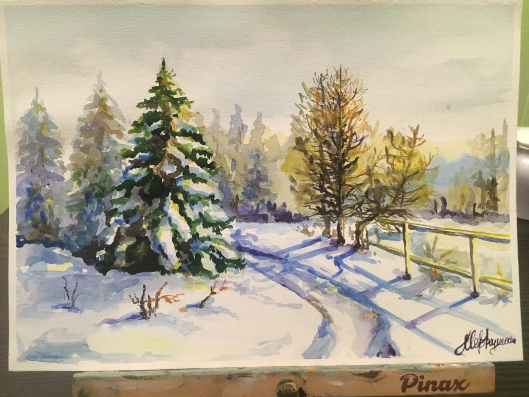 Julia Merkushina. Winter road