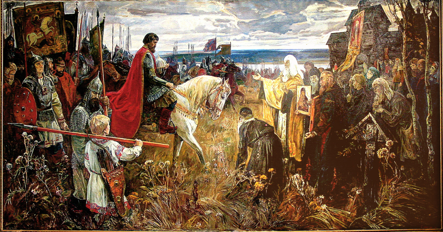 """Gennady Honored Artist of Russia Sorogin. """"For the Russian land! Entry of Dmitry Donskoy with an army to Kolomna"""""""