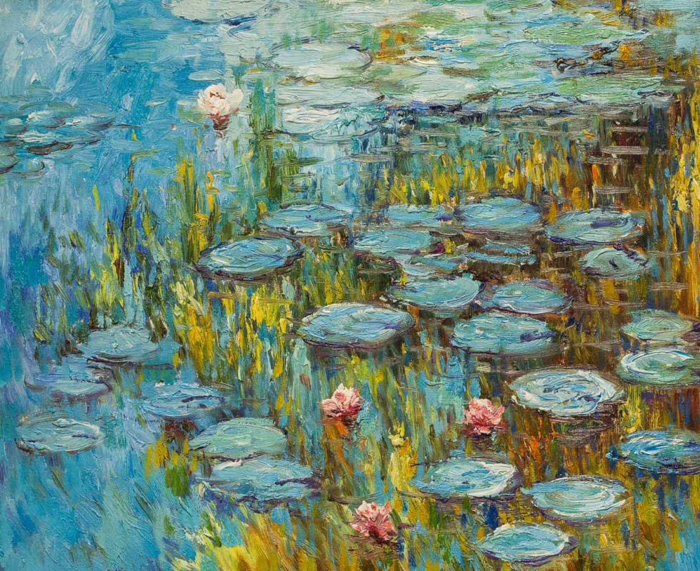 """Savely Kamsky. """"Water Lilies"""", N11, a copy of the picture of Claude Monet"""