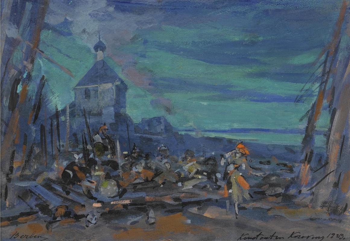 Konstantin Korovin. Scenery for the play