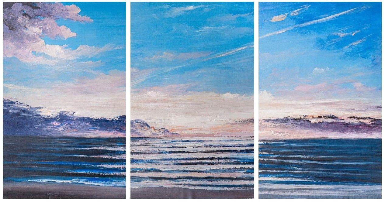Brian dupre. Dawn over the ocean. Triptych