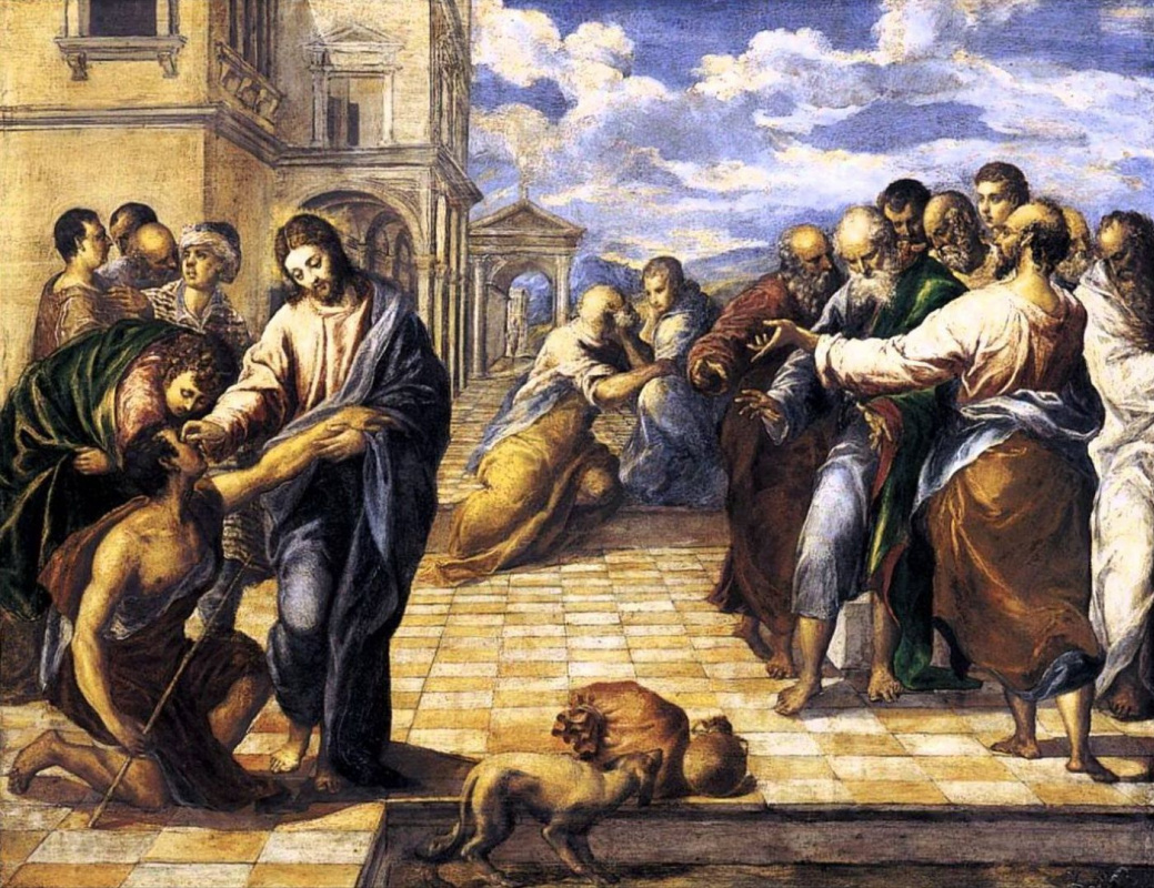 Domenico Theotokopoulos (El Greco). Christ heals the blind
