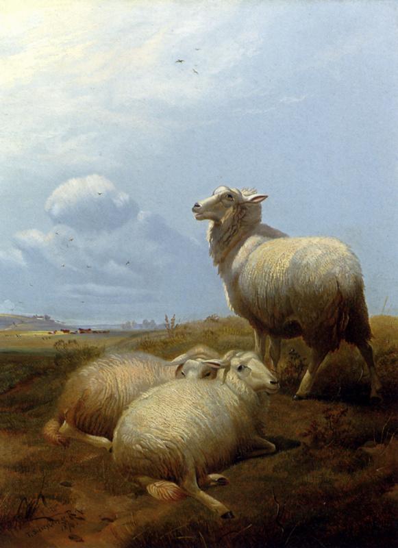 Томас Сидней Купер. Три овцы