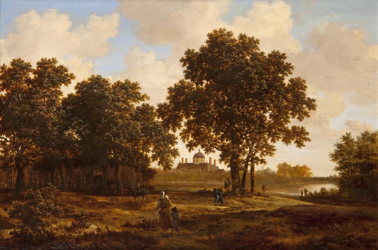 Joris van der Hagen. The forest in The Hague with a view on Palace Huis ten Bosch