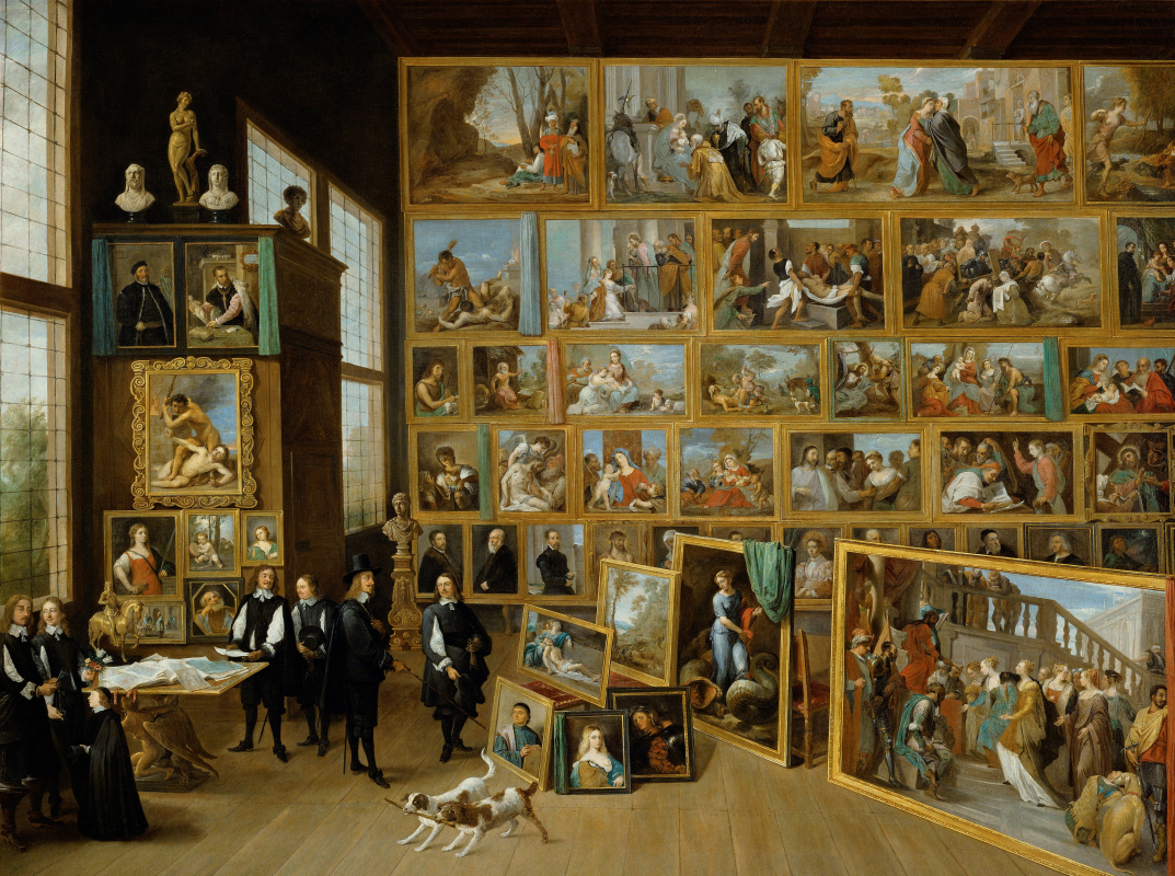 David Teniers the Younger. Archduke Leopold Wilhelm in the Art Gallery in Brussels