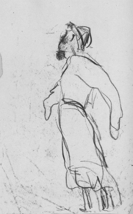 Александр Александрович Дейнека. Рисунок к картине «Никитка - первый русский летун»