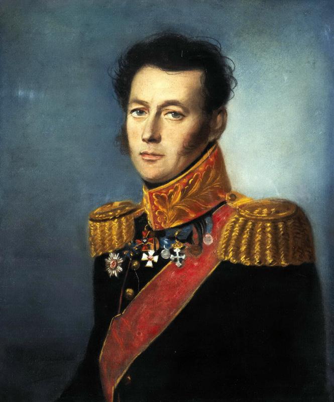 Karl Wilhelm Bardou. Portrait of a Russian General