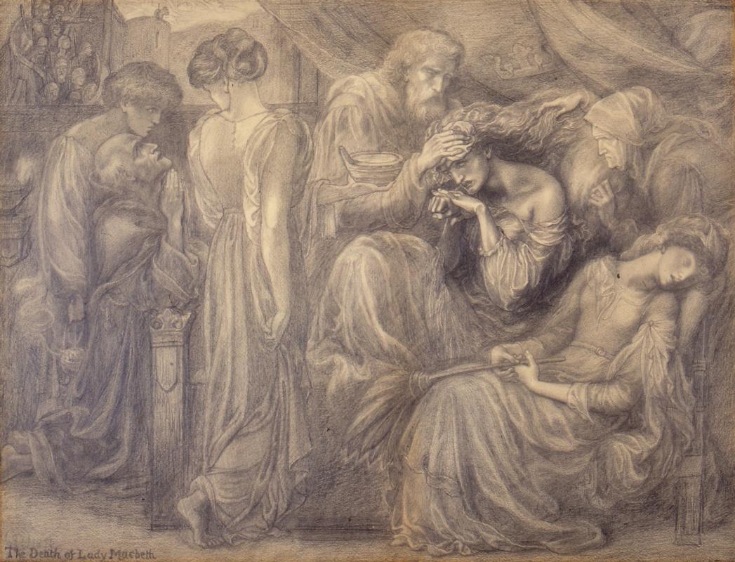 Данте Габриэль Россетти. Смерть леди Макбет. Финальный эскиз