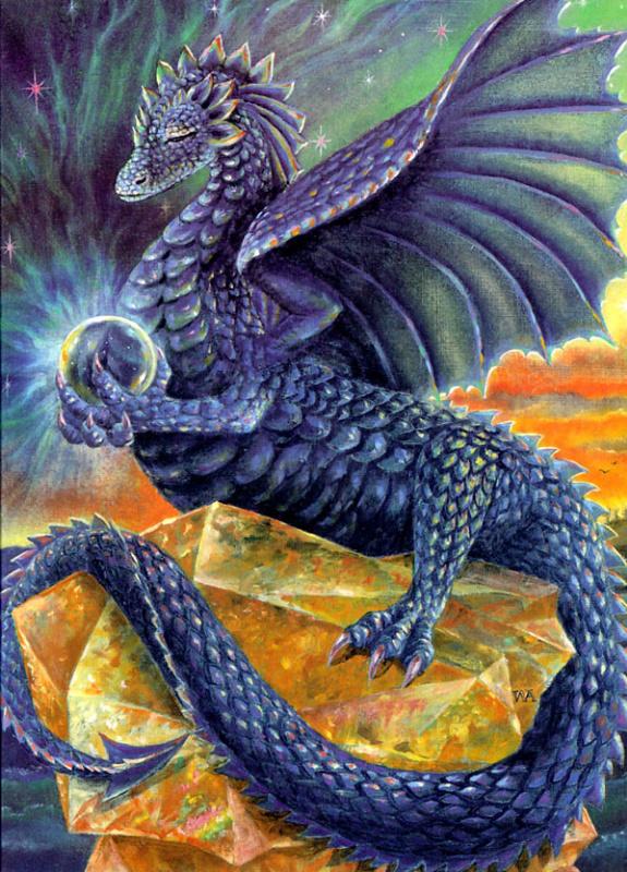 Индиго размышляющий дракон