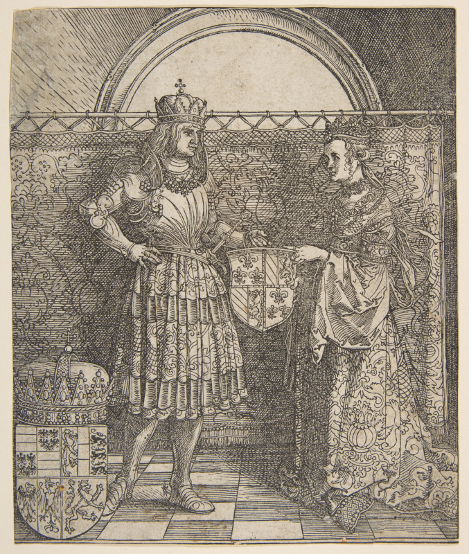 Albrecht Durer. The Betrothal Of Mary Of Burgundy