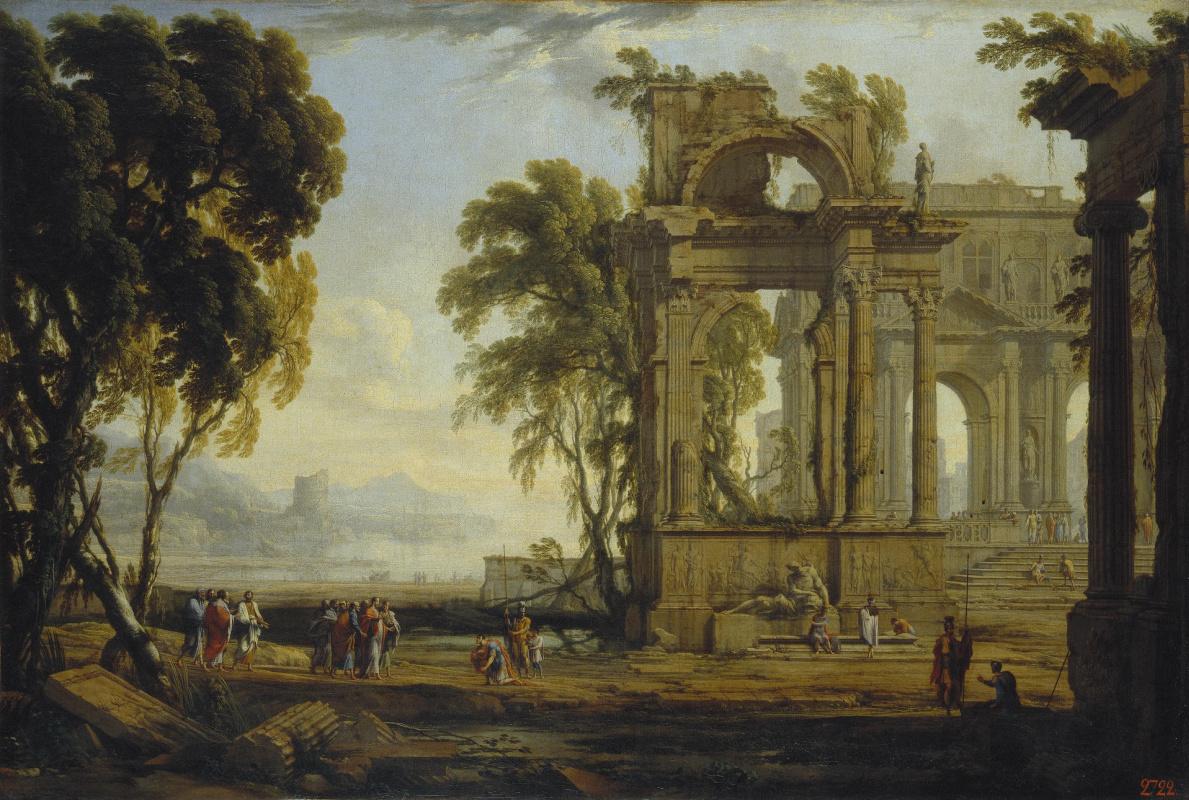 Pierre Patel Elder. Landscape with Christ and Centurion