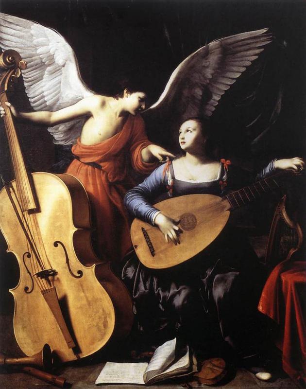 Святая Цецилия и ангел