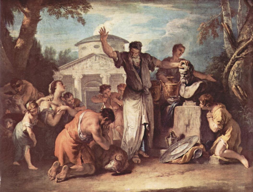 Sebastiano Ricci. The sacrifice God Selena