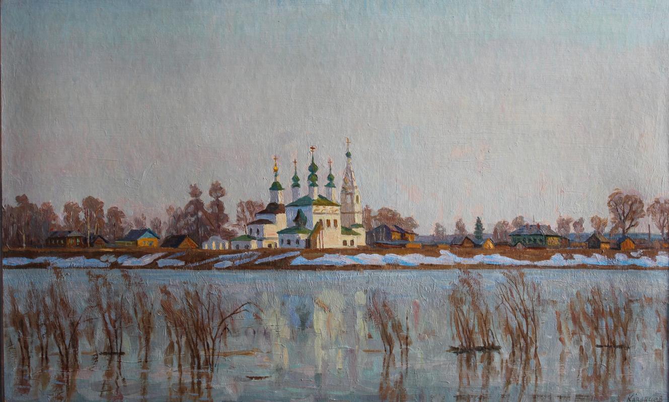 Eugene Alexandrovich Kazantsev. Early spring on the Dvina. Great Ustyug.