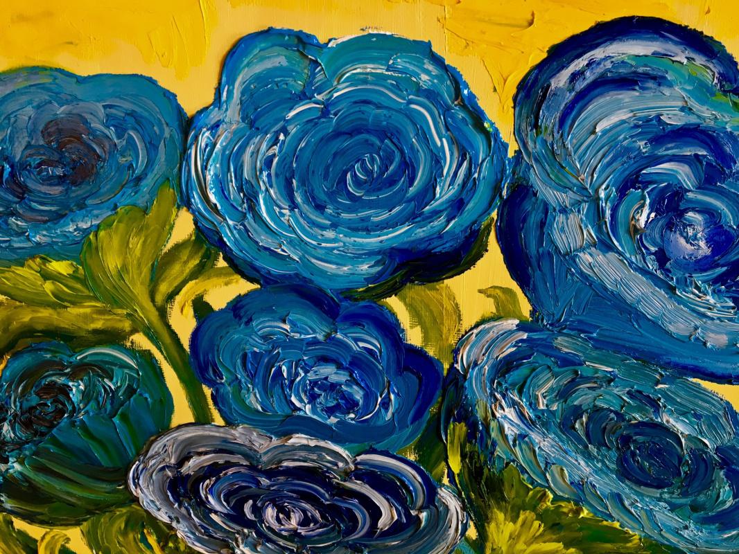 Victoria Vladimirovna Kineward. Blooming blue roses