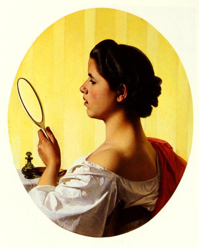 Федерико Малдарелли. Девушка с зеркалом