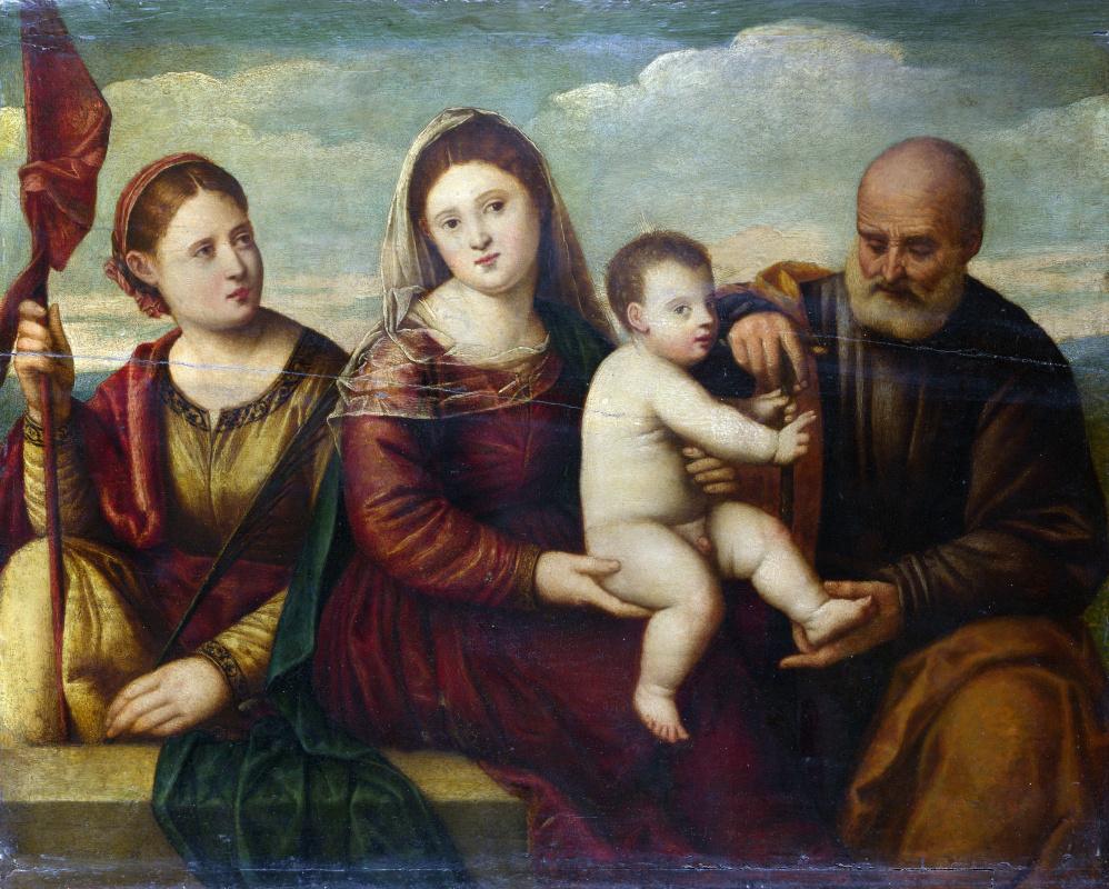 Ликинио Бернардино. Дева с младенцем и святыми