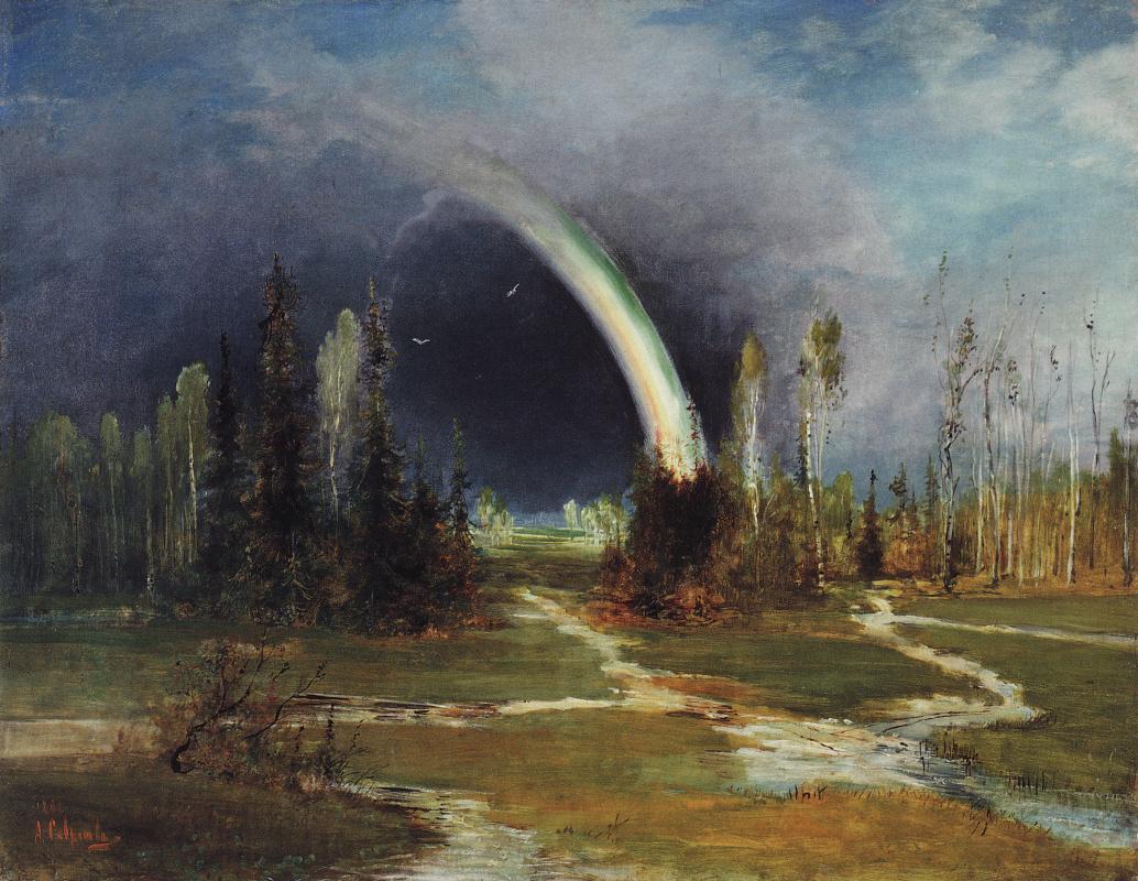 Алексей Кондратьевич Саврасов. Пейзаж с радугой