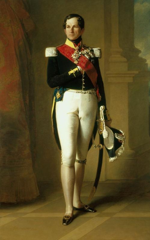 Franz Xaver Winterhalter. Portrait of Leopold I, king of Belgium