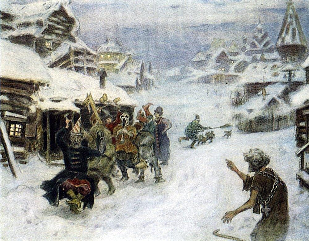 Аполлинарий Михайлович Васнецов. Скоморохи