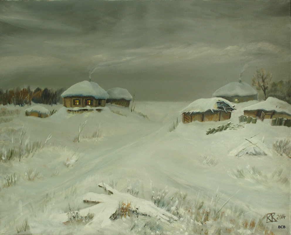 Sergay Vitalievich a water-scuba. Winter on the farm