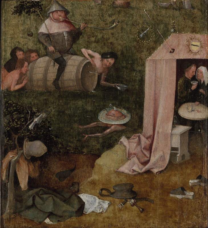 Hieronymus Bosch. Allegory of gluttony and voluptuousness