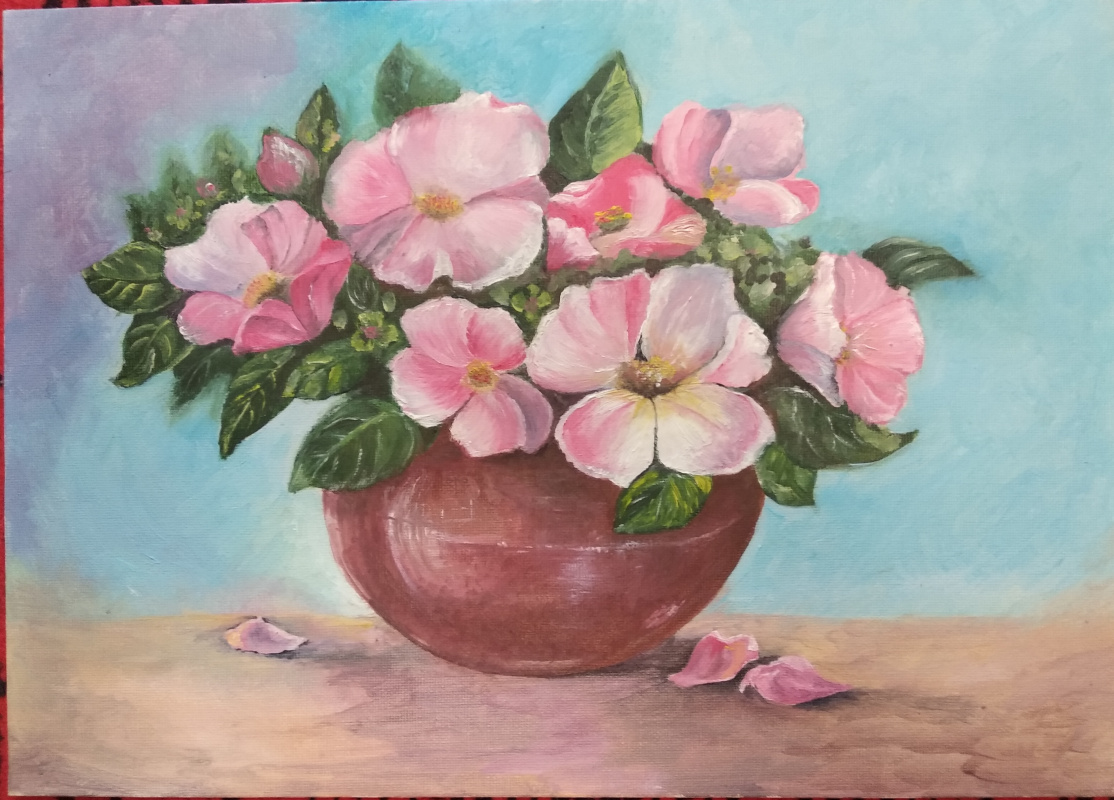 "Zifa Ishbulatovna Abdullina. ""Pot of flowers"""