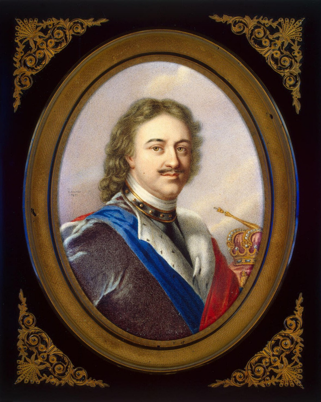 Jean Benner. Portrait Of Peter I