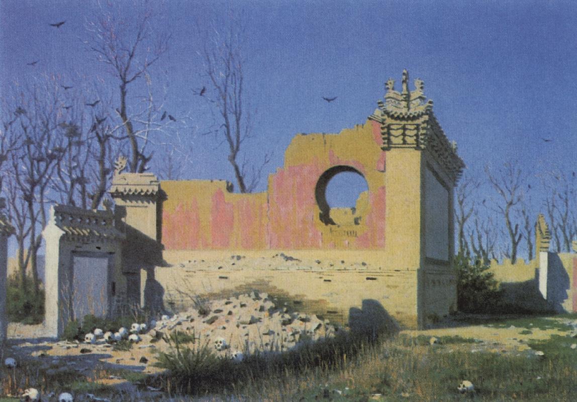 Vasily Vereshchagin. The ruins of a theater in Chuguchak