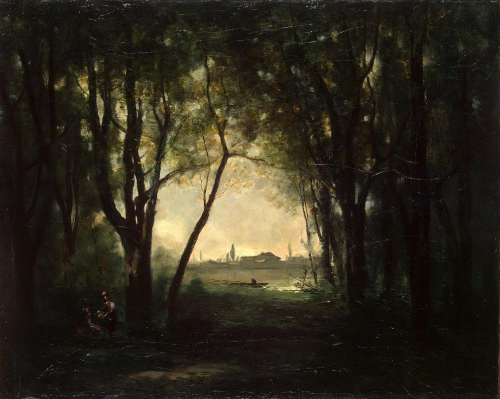 Камиль Коро. Пейзаж с озером