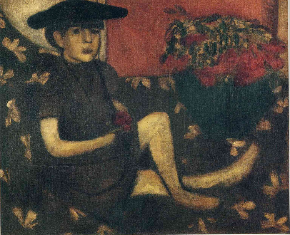 Марк Захарович Шагал. Девочка на софе - Марьяска