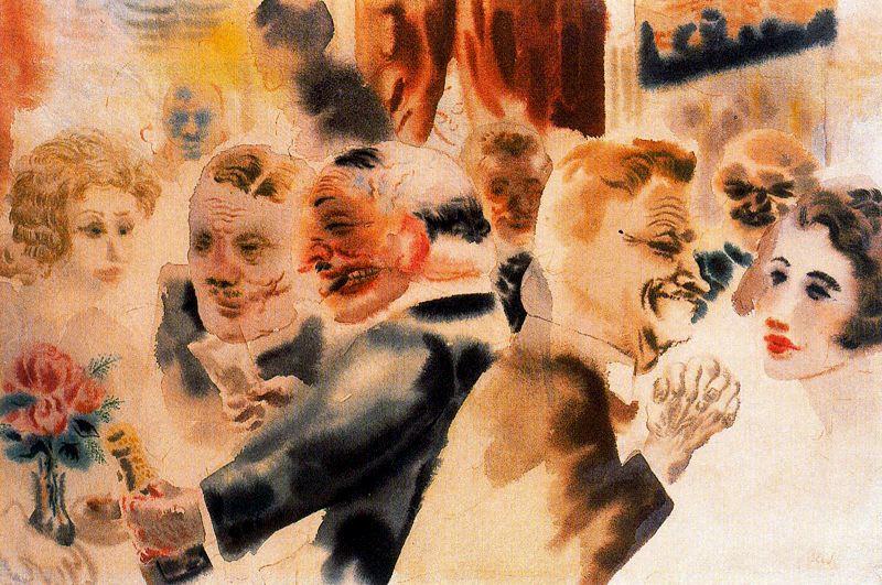 George Grosz. Gentlemen