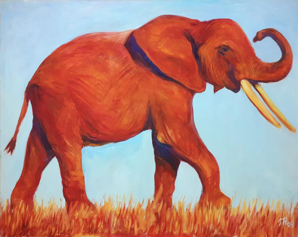 Gorelkina. Red elephant