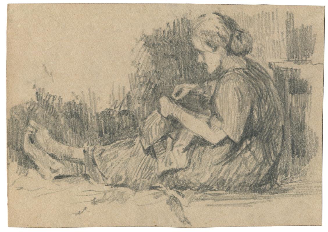 Alexandrovich Rudolf Pavlov. Sketch of mother.
