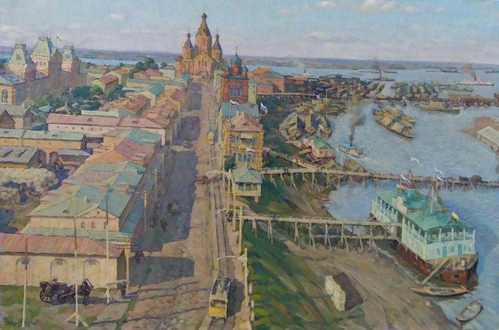 Rudolf Aleksandrovich Sosnin. St. Al Nevsky. By the evening