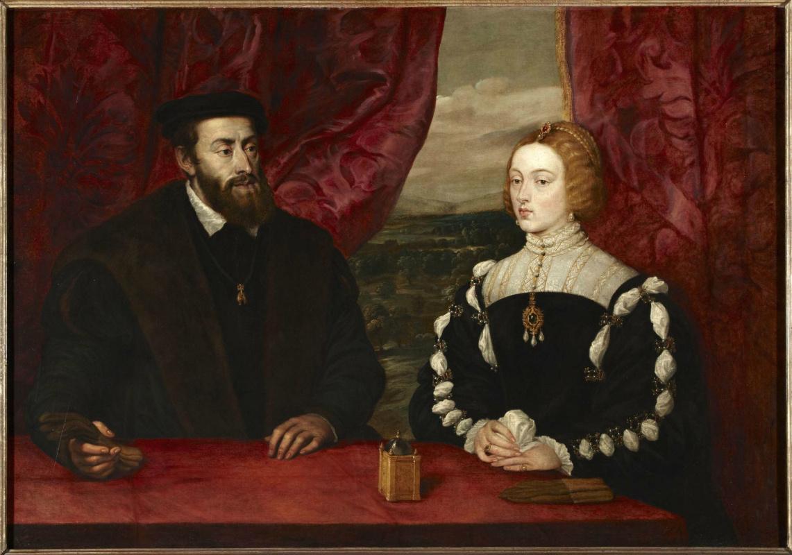 Питер Пауль Рубенс. Двойной портрет Карла V и императрицы Изабеллы (вслед за Тицианом)
