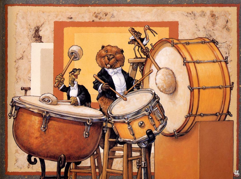 Смешной барабанщик картинка, смешные много
