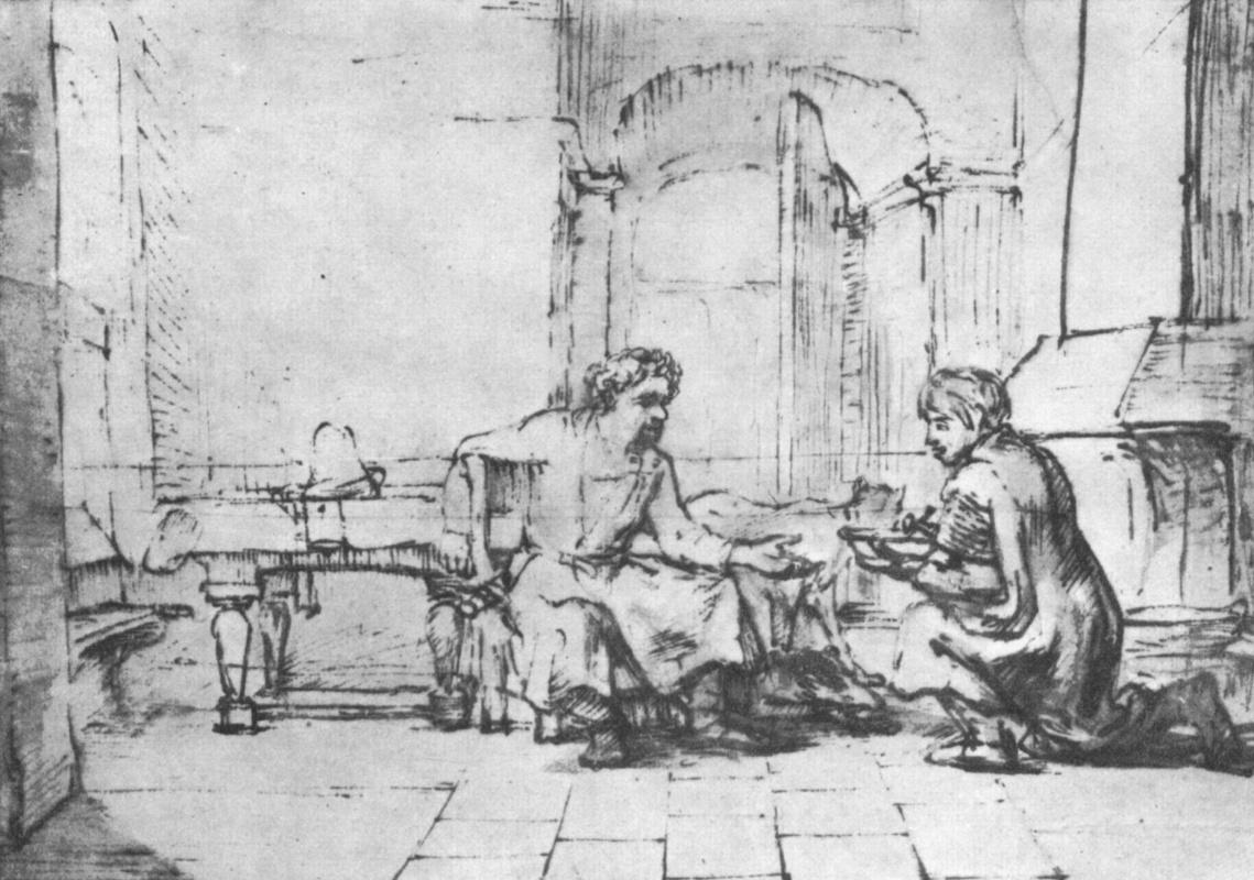 Рембрандт Харменс ван Рейн. Исав продает своё первородство